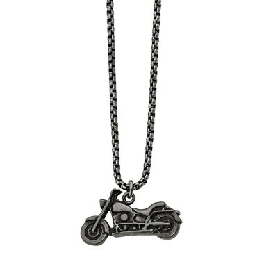 jcpenney.com | Mens Stainless Steel Antiqued Motorcycle Pendant