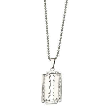 jcpenney.com | Mens Diamond Accent Stainless Steel Razor Blade Pendant