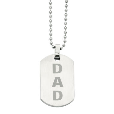 jcpenney.com | Mens Stainless Steel Enamel Dad Dog Tag Pendant