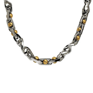 jcpenney.com | Mens Stainless Steel Yellow Ip-Plated Chain Necklace
