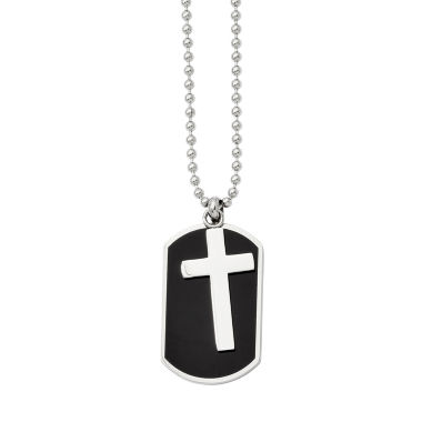 jcpenney.com | Mens Stainless Steel Cross Dog Tag Pendant