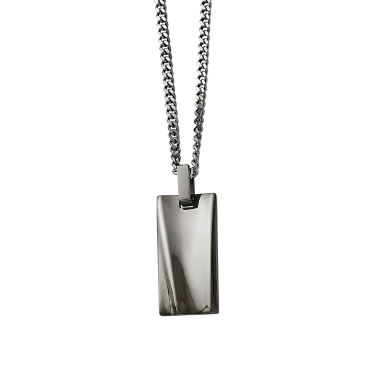 jcpenney.com | Mens Stainless Steel Black Ip-Plated Rectangle Pendant
