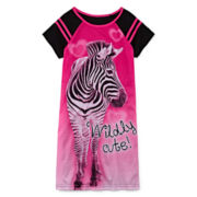 Jelli Fish Zebra Gown - Girls