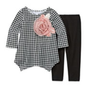 Marmelatta Long-Sleeve Check Shirt and Leggings Set - Toddler Girls 2t-4t