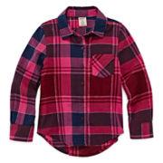 Arizona Long-Sleeve Plaid Shirt - Preschool Girls 4-6x