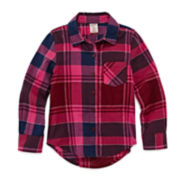 Arizona Long-Sleeve Plaid Shirt - Preschool Girls 4-6x
