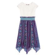 Speechless® Short-Sleeve Chiffon Sharkbite Dress - Girls 7-16