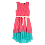 Lilt Sleeveless Hi-Lo Fit-and-Flare Dress - Girls 7-16