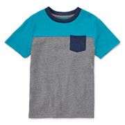 Arizona Short-Sleeve Colorblock Tee - Toddler Boys 2t-5t
