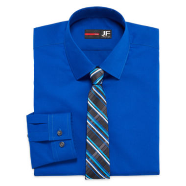 jcpenney.com | JF J. Ferrar® Long-Sleeve Easy-Care Dress Shirt and Tie Set