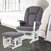 Dutailier® Dark Modern Glider and Ottoman