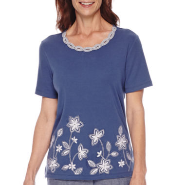 jcpenney.com | Alfred Dunner® St. Augustine Short-Sleeve Appliqué Top