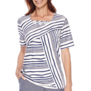 Alfred Dunner® St. Augustine Short-Sleeve Striped Top