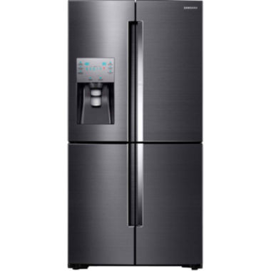 "jcpenney.com | Samsung 72"" High 27.8 cu. ft. 4-Door Flex Food Showcase French Door Refrigerator in Black Stainless Steel"