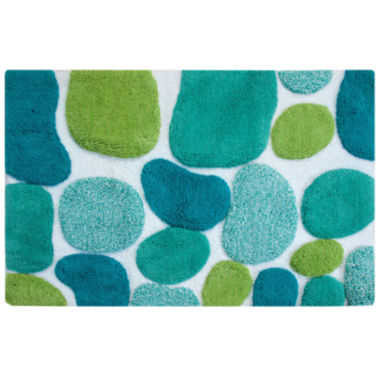"jcpenney.com | Chesapeake Merchandising Pebbles Brights 24x36"" Bath Runner Rug"