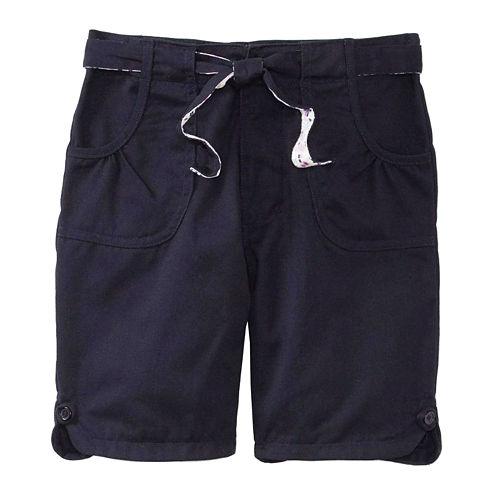 U.S. Polo Assn.® Bermuda Shorts with Reversible Belt - Girls 7-16