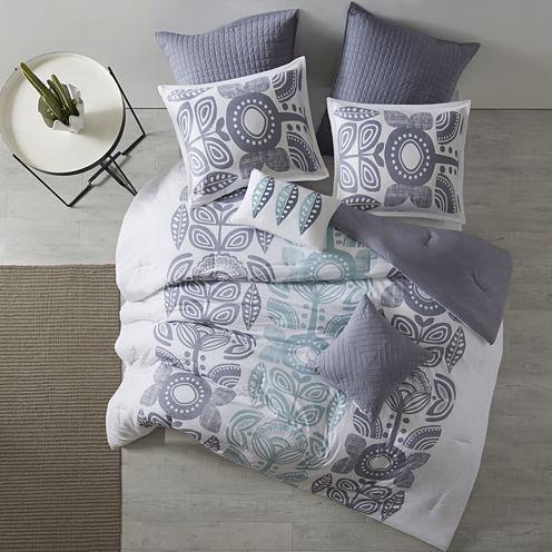 Urban Habitat Teo Cotton Printed 7-pc. Midweight Reversible Comforter Set