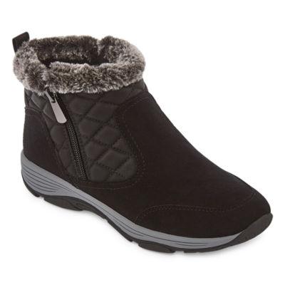 Easy Spirit Womens Vance10 J Water Resistant Flat Heel Winter Boots Color Blk01
