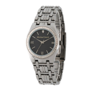 jcpenney.com | Personalized Dial Mens Diamond-Accent Black Watch