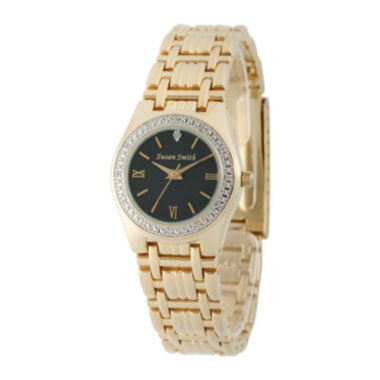 jcpenney.com | Personalized Dial Womens Diamond-Accent Gold-Tone Bracelet Watch