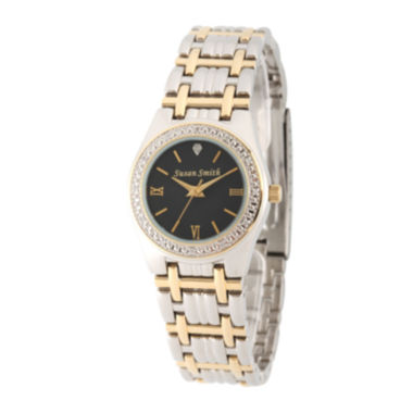 jcpenney.com | Personalized Dial Womens Diamond-Accent Two-Tone Bracelet Watch