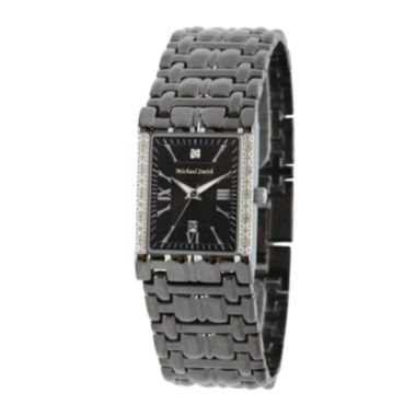 jcpenney.com | Personalized Dial Mens Diamond-Accent Square Black Watch
