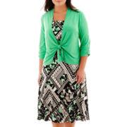Perceptions Tie-Front Jacket Dress - Plus