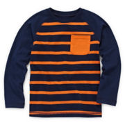 Okie Dokie® Raglan Striped Long-Sleeve Tee - Toddler Boys 2t-5t