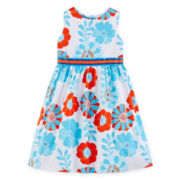 Rare Editions Floral Ribbon Dress - Preschool Girls 4-6x