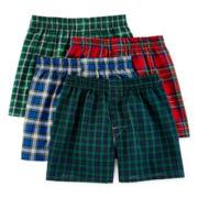 Hanes® Ultimate 3-pk. ComfortFlex® Tartan Boxers + BONUS pair - Boys
