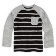 Okie Dokie® Raglan Striped Long-Sleeve Tee - Preschool Boys 4-7