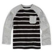 Okie Dokie® Raglan Striped Long-Sleeve Tee - Preschool Boys 4-7
