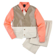 Steve Harvey® 4-pc. Vest, Shirt, Clip-On Tie and Pants Set – Boys 8-18