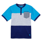 U.S. Polo Assn.® Colorblock Henley Tee - Boys 6-18