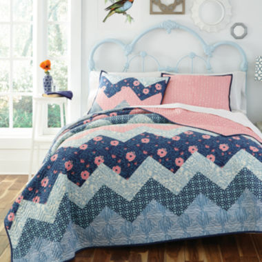 jcpenney.com | KD Spain Camilla Reversible Chevron Quilt Set