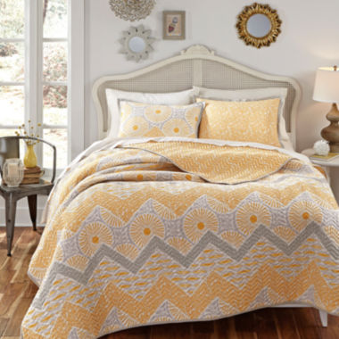 jcpenney.com | KD Spain Sunnyside Reversible Chevron Quilt Set