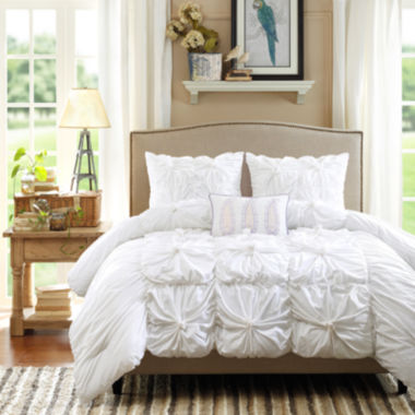 jcpenney.com | Madison Park Maxine Ruched 4-pc. Comforter Set