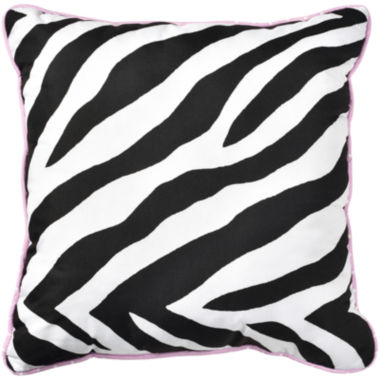 jcpenney.com | Sassy Zebra Reversible Square Decorative Pillow