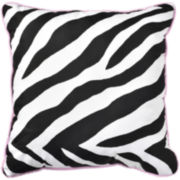 Sassy Zebra Reversible Square Decorative Pillow