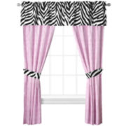 Sassy Zebra 2-Pack Curtain Panels
