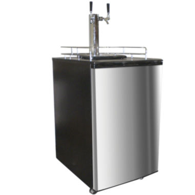 jcpenney.com | Nostalgia KRS6100SS 6.1 Cubic-Foot Full Size Double Tap Stainless Steel Draft Beer Dispenser