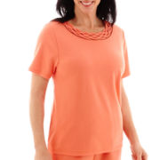 Alfred Dunner® Short-Sleeve Beaded T-Shirt
