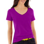 Stylus™ Short-Sleeve  V-Neck Slub T-Shirt
