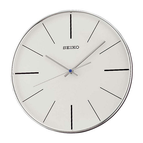 Seiko® Silver Tone Quiet Sweep Wall Clock Qxa634Alh
