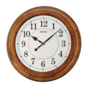 Seiko® Brown Wooden Wall Clock Qxa639Blh