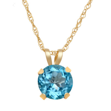 jcpenney.com | Genuine Swiss Blue Topaz Pendant In 10K Yellow Gold