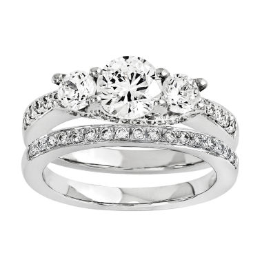 jcpenney.com | 1 1/4 CT. T.W. Diamond 14K White Gold Bridal Set