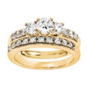 1 1/2 CT. T.W. Diamond 14K Yellow Gold Bridal Set