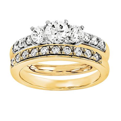 1 1/2 CT. T.W. Diamond 14K Two-Tone Bridal Set