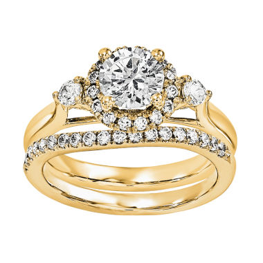jcpenney.com | 1 CT. T.W Diamond 14K Yellow Gold Bridal Set